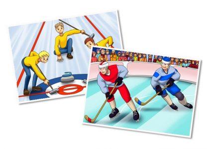 Winter Sports Printable Illustrations