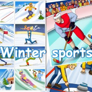 Winter Sports Card Set
