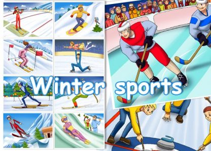 Winter Sports Card Set