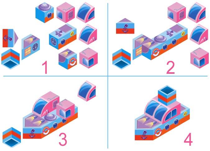 puzzles 2D-cubes