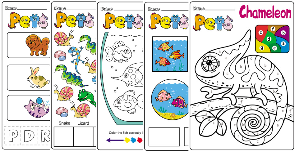 Pet Animals Worksheets And Activities – BuyLapbook