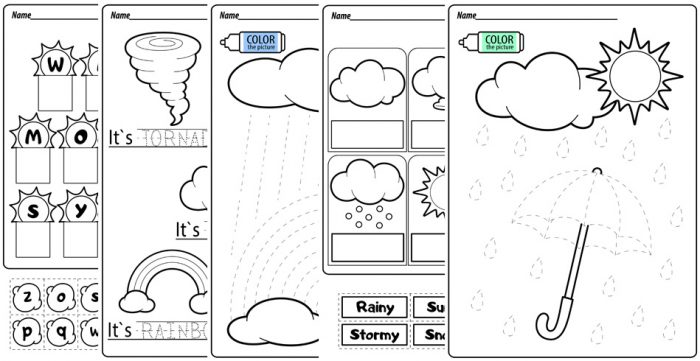 Weather Printable Activities And Worksheets – BuyLapbook