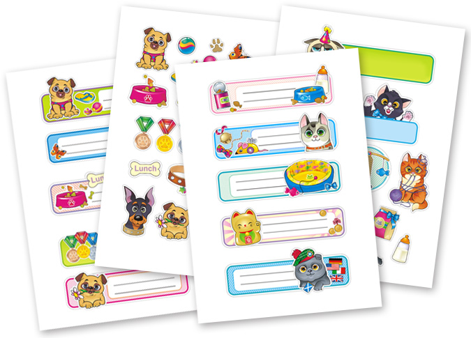 stickers cats and dogs
