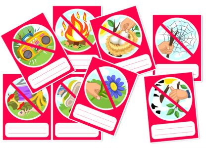 Earth Day and ecology. Cards