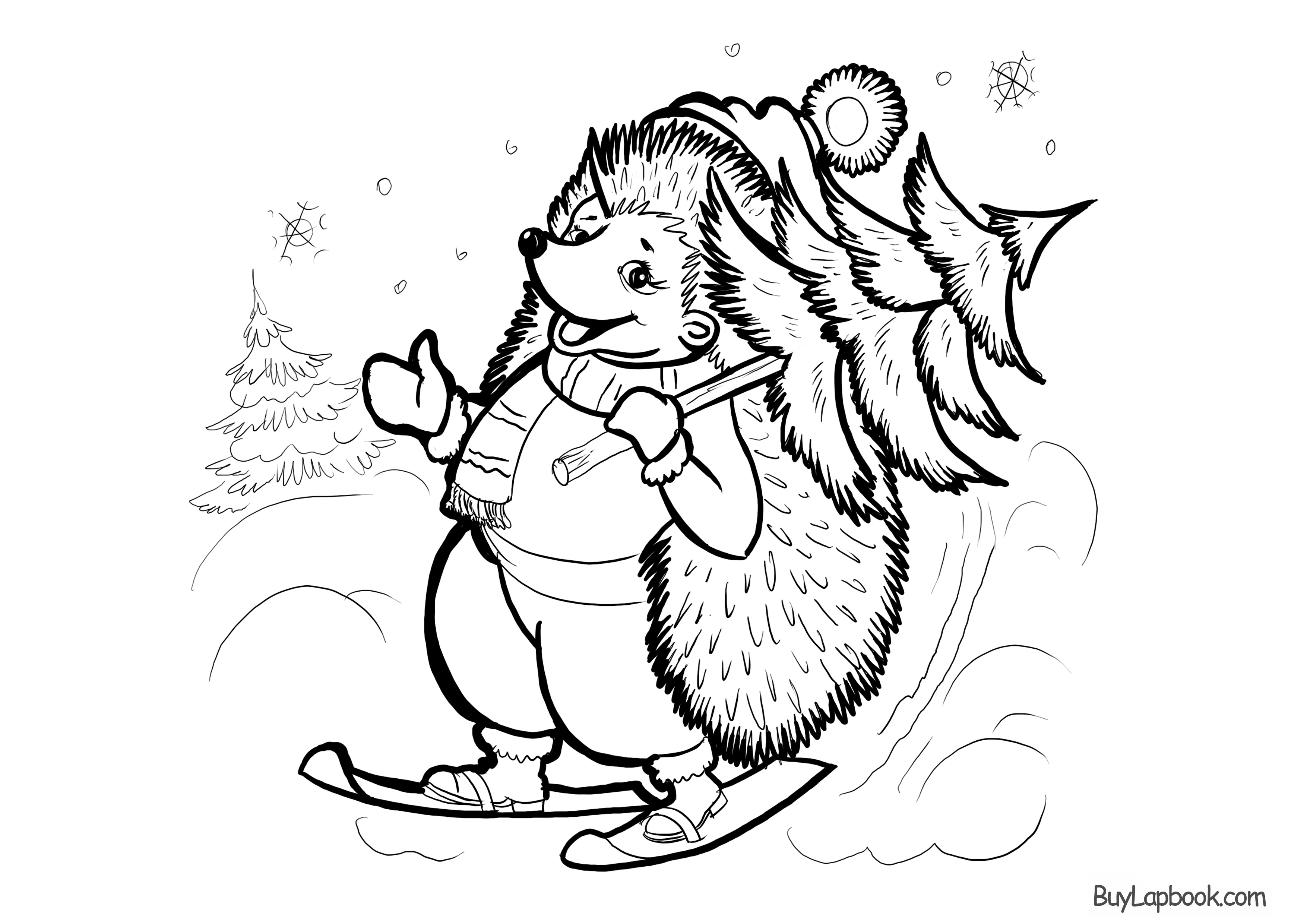 Hedgehogs. Free Printable, Coloring and Activity Page for ...