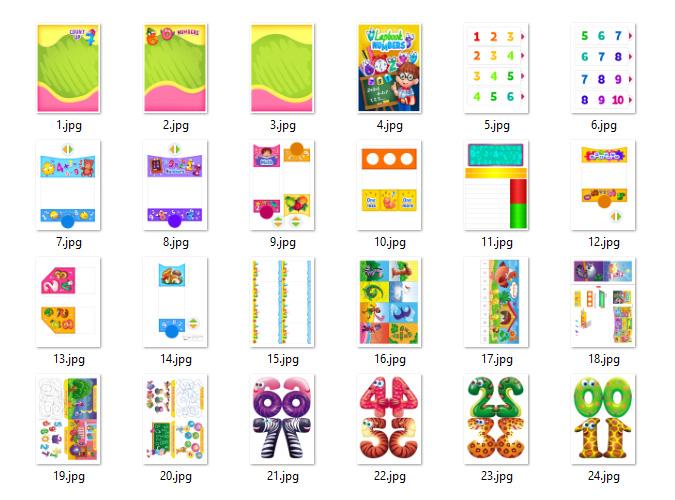 Math Lapbook templates