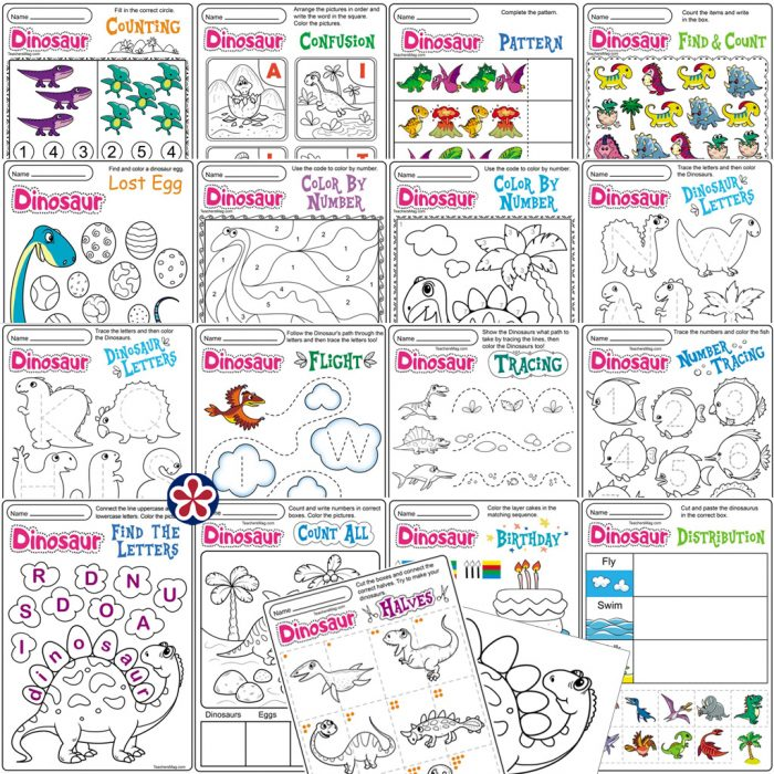 Dinosaur Worksheets And Activities – BuyLapbook