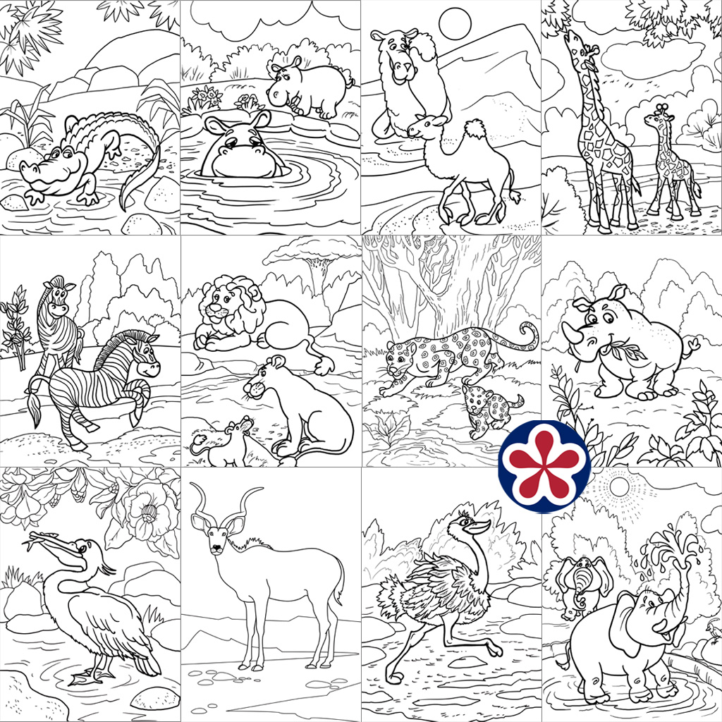 African Animals Coloring Pages and Pictures | BuyLapbook